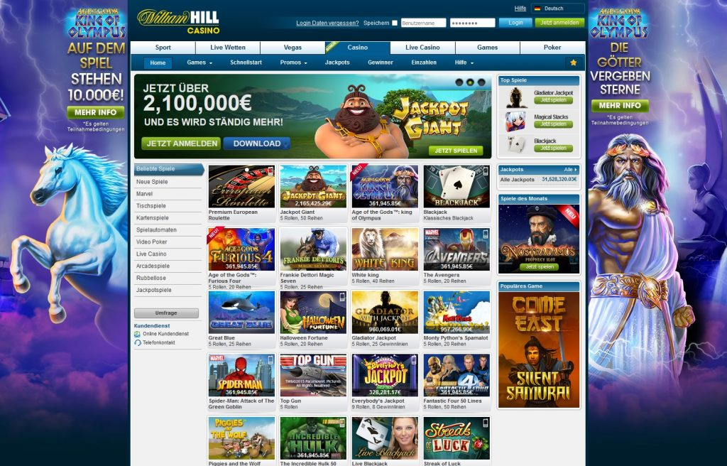 online william hill casino deutschland spiele games