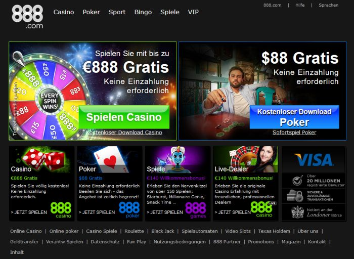 online casino 888 spielen bei king com