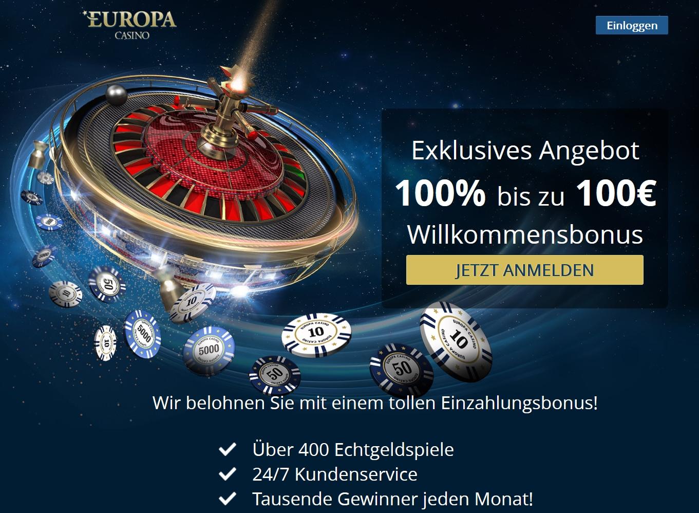 Europa Casino Lastschrift