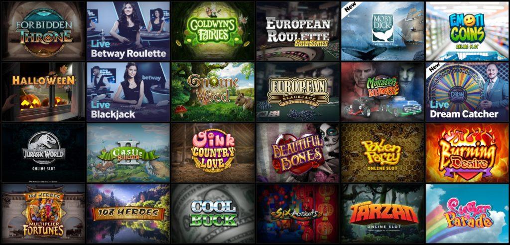 Betway Casino Spiele