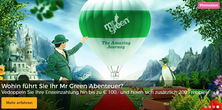 mr green bonus angebot