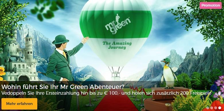 mr green bonus angebot