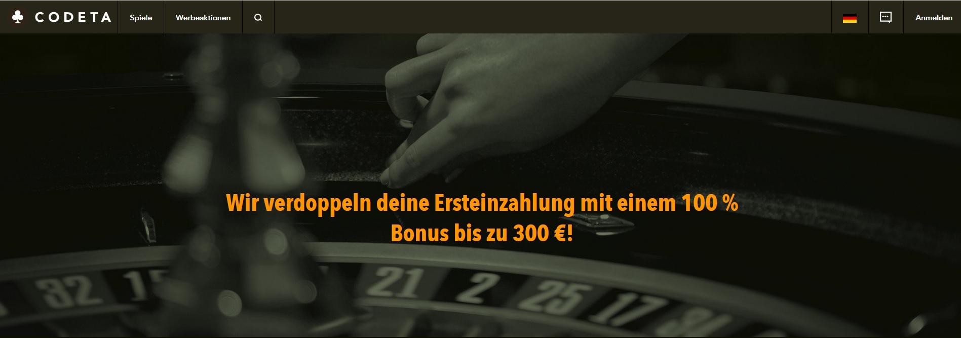 Codeta Casino Bonus