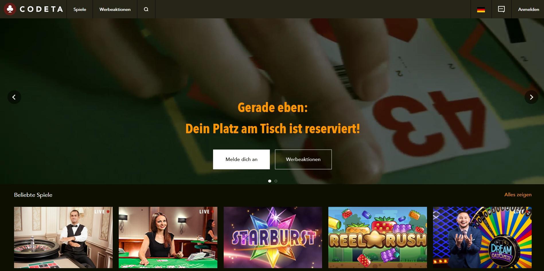 Codeta Casino Vorschau