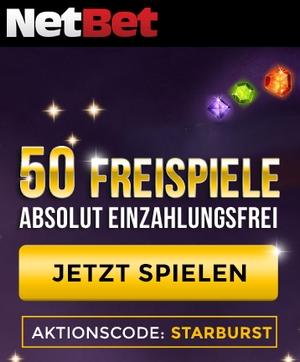 NetBet Bonuscode STARTBURST