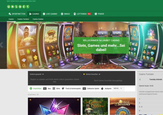 Unibet Casino Vorschau