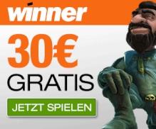 Winner Casino Bonus ohne Einzahlung 30 Euro gratis