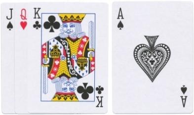 Kartenwerte zehn und ass