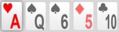 Pokerhand höchste Karte