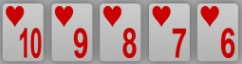Pokerhand Straight Flush
