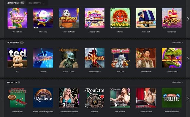 Betsafe Casino Spiele