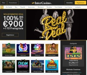 InterCasino Webseite