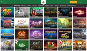 Mr Green Casinospiele