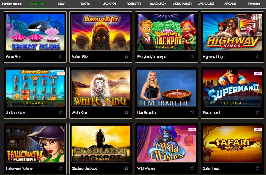 CasinoTropez Spiele