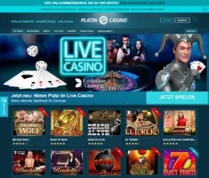 Platin Casino Startseite