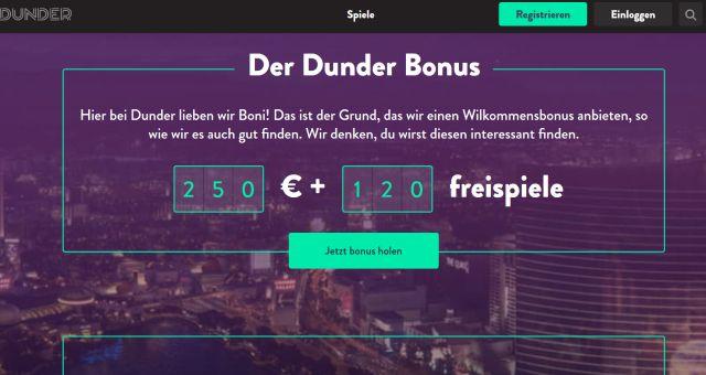 Dunder Casino Vorschau