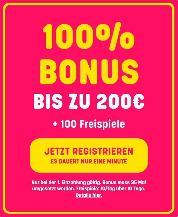 Caxino Bonus 100% bis 200€