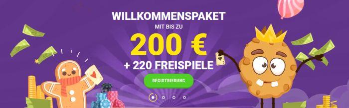 Cookie Casino Bonuspaket