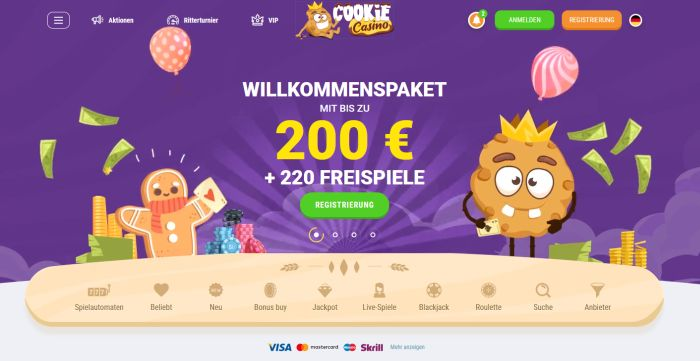 Cookie Casino Startseite