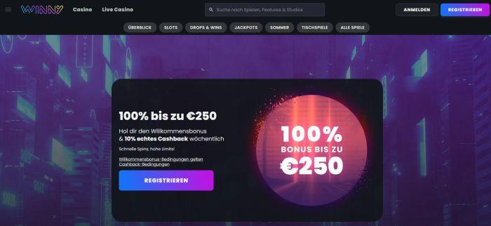 Winny Casino Startseite